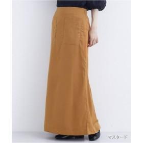 (merlot/メルロー)Aラインロングスカート1750/レディース マスタード