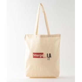 (LE JOUR/ル ジュール)【Merge LA】【ユニセックス】Merge LA LOGO GRAPHIC SHOP BAG/レディース ホワイト