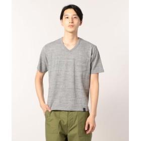 (FREDY & GLOSTER/フレディアンドグロスター)吊編みラフィートップヘザーTシャツ/メンズ ミディアムグレー