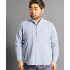 (HIDEAWAYS NICOLE/ハイダウェイニコル)<大きいサイズ>コットンカラーシャツ/メンズ 60ブルー