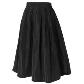 REAL STYLE リアルスタイル シンプルタフタフレアスカート
