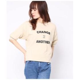 (Factor=/ファクターイコール)10番糸ポケ付ビッグTシャツ/レディース ベージュ