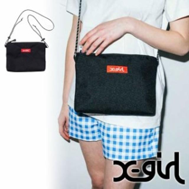 【メール便送料160円】X-girl エックスガール BOX LOGO SACOCHE ボックスロゴ サコッシュ バッグ [5175060]