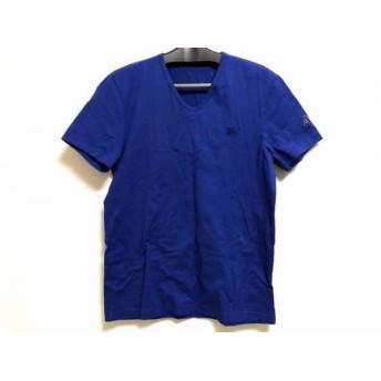 【中古】 バーバリーブラックレーベル Burberry Black Label 半袖Tシャツ サイズ3 L メンズ ネイビー