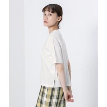 (SENSE OF PLACE/センスオブプレイス)クルーネックTシャツ(5分袖)/レディース OFFWHITE