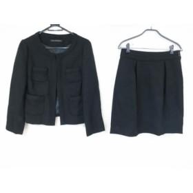【中古】 グリーンレーベルリラクシング green label relaxing スカートスーツ サイズ40 M レディース 黒