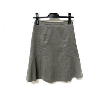 【中古】 ニジュウサンク スカート サイズ30 XS レディース 美品 グレー vingt-trois arrondissements