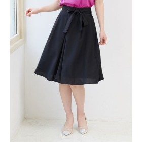 ロペピクニック/重ねタックリボン付きスカート/ブラック/40