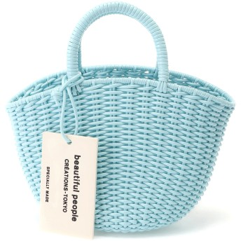 beautiful people tube knitting basket S かごバッグ,ミント