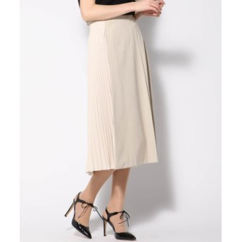 (VICKY/ビッキー)サイドプリーツ異素材スカート/レディース ベージュ