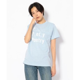 (UNCUT BOUND/アンカットバウンド)BAUM UND PFERDGARTEN(バウムウンドヘルガーデン) poetry tee Tシャツ/レディース BLUE 送料無料