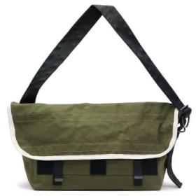 (GALLERIA/ギャレリア)エスエムエル ショルダーバッグ SML メッセンジャーバッグ ARMY DUCK MESSENGER BAG SLOW スロウ 456M08H/ユニセックス カーキ