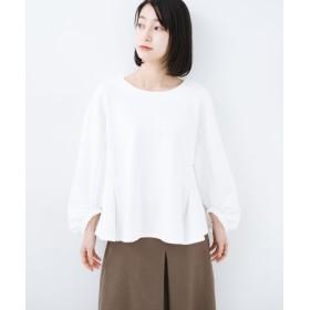 (haco!/ハコ)アイロンいらずで気軽に着られるカットソーブラウス/レディース ホワイト 送料無料