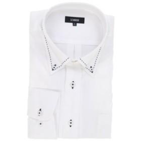 (TAKA-Q/タカキュー)【大きいサイズ】日本製綿100%ボタンダウンハンドステッチ長袖ビジネスドレスシャツ/メンズ ホワイト 送料無料