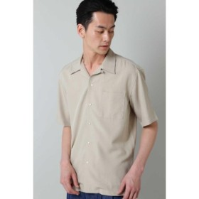 (TORNADO MART/トルネードマート)BLUE TORNADO∴トロワッシャーオープンカラー半袖シャツ/メンズ ベージュ