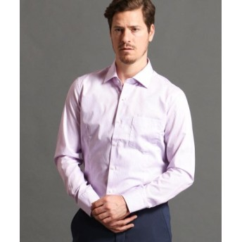 (MONSIEUR NICOLE/ムッシュニコル)ストライプ柄ドレスシャツ/メンズ 88ラベンダー 送料無料