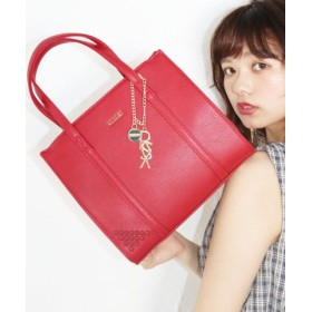 (STYLE CODE/STYLE CODE)RSXパーツ チャーム付きSPハンドBAG(小)/レディース RED