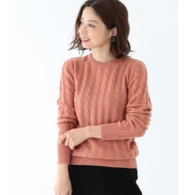 (BEAMS OUTLET/ビームス アウトレット)Demi-Luxe BEAMS/チェーンケーブル クルーネックニット/レディース PINK 送料無料