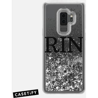 CASETiFY Galaxy S9+ ケース 名前入りキラキラ ケース イニシャルグリッターケース ケース 名前 ケース 名前 入