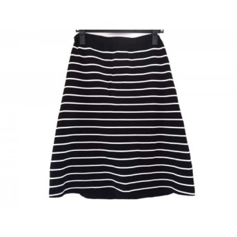 【中古】 セオリーリュクス theory luxe スカート サイズ40 M レディース 美品 黒 白 ボーダー