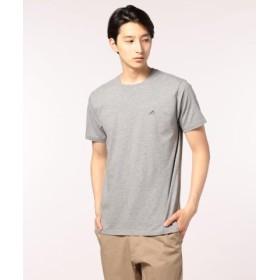 (FREDY & GLOSTER/フレディアンドグロスター)スニーカー刺繍スリットTシャツ/ユニセックス ミディアムグレー