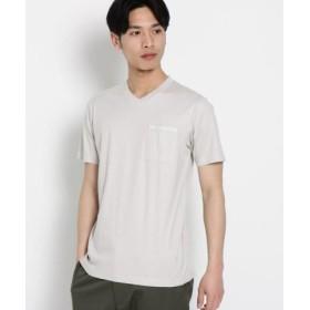 (Dessin/デッサン)VネックポケットTシャツ/メンズ ライトグレー(011)