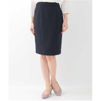 OFUON 【セットアップ可】ストレッチ切り替えスカート スーツ・セットアップ/スカート,ネイビー