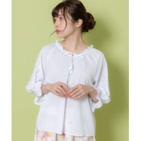(Rewde/ルゥデ)袖刺繍入りブラウス(9R13-03059)/レディース ホワイト