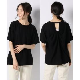 (allureville/アルアバイル)アムンゼンバックツイストTシャツ/レディース ブラック