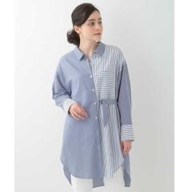 [マルイ]【セール】【洗える】ストライプ切り替えデザインシャツ/ジョルジュ・レッシュ(GEORGES RECH)