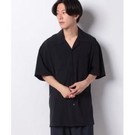 (ONEDAY KMC/ワンデイケイエムシー)DETAILS/サイドファスナールーズオープンカラーシャツ/メンズ ネイビー