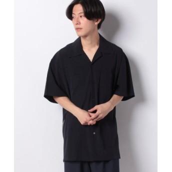(ONEDAY KMC/ワンデイケイエムシー)DETAILS/サイドファスナールーズオープンカラーシャツ/メンズ ネイビー 送料無料