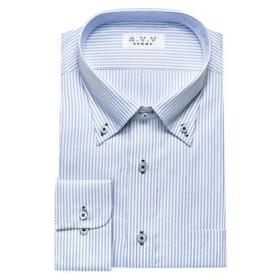 (YAMAKI official/山喜オフィシャル)a.v.v HOMME 長袖 ワイドカラーショートカラーマイターカラーボタンダウンワイシャツ/メンズ その他系5
