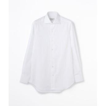 (TOMORROWLAND/トゥモローランド)140/2コットンブロード ワイドカラー ドレスシャツ/メンズ ホワイト 送料無料