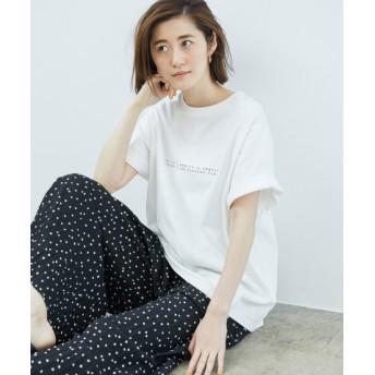 (ROPE' PICNIC/ロペピクニック)アソート柄ビッグTシャツ/レディース ホワイト系(11)