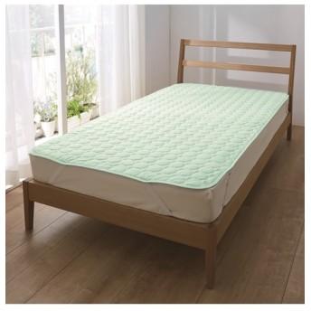 綿100%天然素材の接触冷感 敷パッド 敷きパッド・ベッドパッド