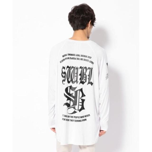 (RoyalFlash/ロイヤルフラッシュ)SWITCHBLADE/スイッチブレード/SWBL RAGLAN SLEEVE T/ラグラン スリーブTシャツ/メンズ WHITE 送料無料