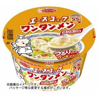 【送料無料】 エースコック ワンタンメン タンメン味 80G×12個セット