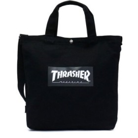 (GALLERIA/ギャレリア)スラッシャー トートバッグ THRASHER プリントトートショルダーバッグ 2WAY B4 通学 THC-803/ユニセックス ブラック