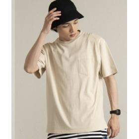 (WEGO/ウィゴー)WEGO/USAコットンクルーネックポケットTシャツ/ユニセックス ベージュ