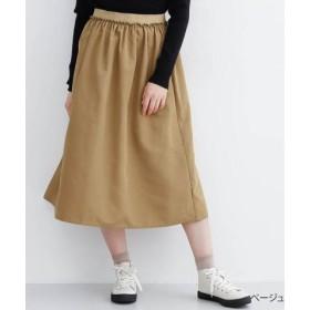 (merlot/メルロー)【IKYU】ゴムギャザースカート/レディース ベージュ