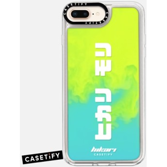 CASETiFY iPhone Xs ネオン サンド リキッド ケース - hikari x CASETiFY