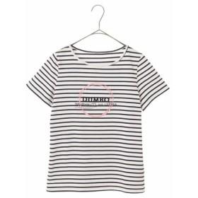 (a.v.v/アー・ヴェ・ヴェ)DUMBOコラボ ロゴモチーフTシャツ[WEB限定サイズ]/レディース ネイビー