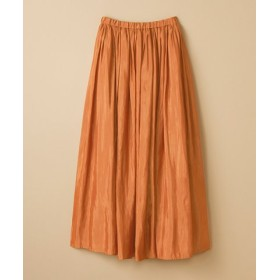 (haco!/ハコ)このスカートさえはけば 女っぽくいられるたっぷりギャザースカート by que made me/レディース ライトブラウン 送料無料