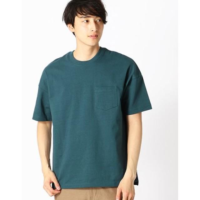(COMME CA ISM/コムサイズム)★雑誌掲載商品★ ポケット付 半袖 Tシャツ/メンズ ターコイズ