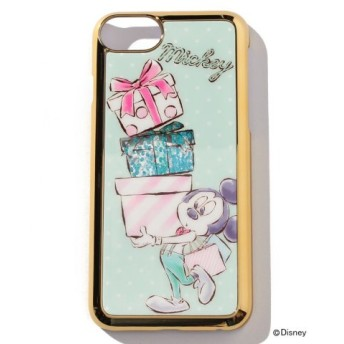 (Cocoonist/コクーニスト)ディズニー・ミッキー&ミニー/iPhone8/7/6/6sケース/レディース ブルー