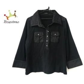 ニジュウサンク 23区 チュニック サイズ46 XL レディース 美品 黒   スペシャル特価 20190808