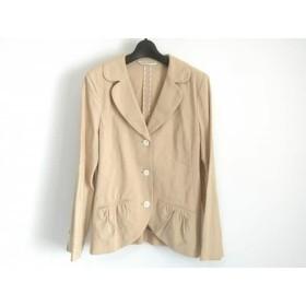 【中古】 ヒロココシノ HIROKO KOSHINO ジャケット サイズ11 M レディース ベージュ 肩パッド