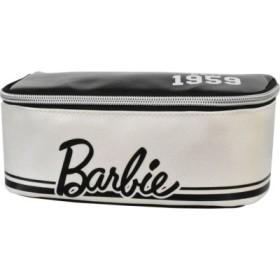 (RUNNER/ランナー)Barbie バービー ロゴ ライン フルオープン&Wジッパー ポーチ/レディース ブラック系1