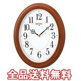 木枠スタンダード電波アナログ掛時計(楕円・茶) KX390B KX390B